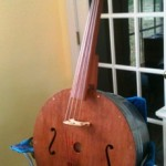 My upright, four string washtub bass. Yay, my talented, woodworking man!
